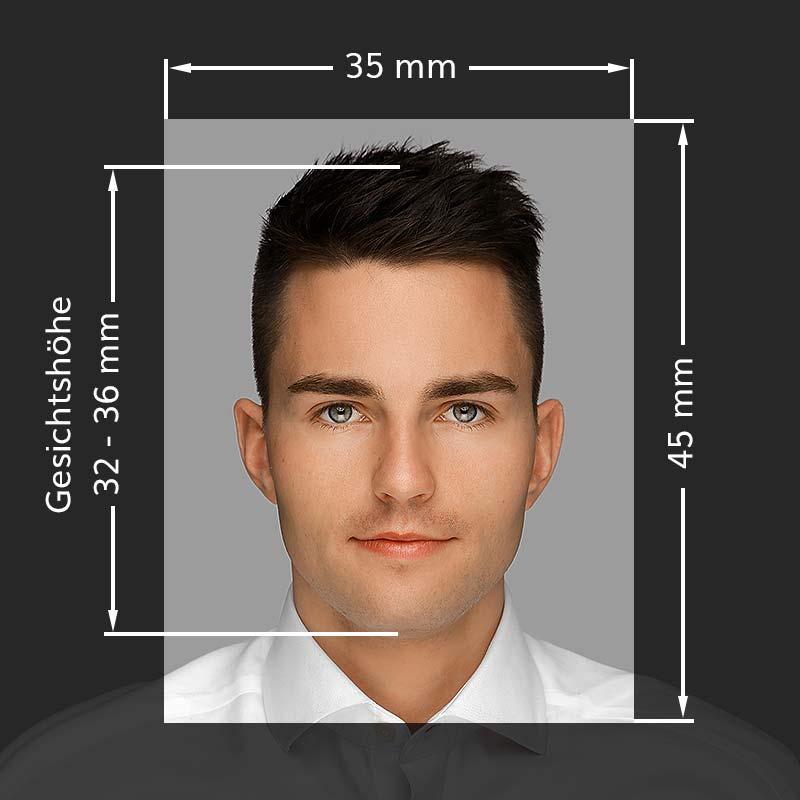 Anforderungen biometrisches Passbild für Erwachsene