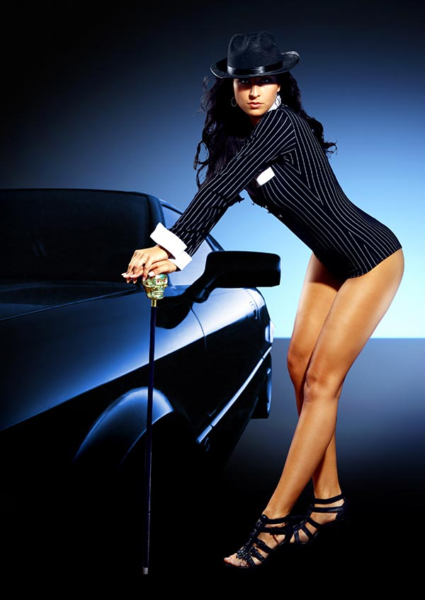 Beauty-und Mode-Fotografie, Modell-Shooting einer Kundin