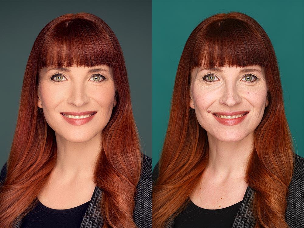 Bildbearbeitung-in-Photoshop-perfekte Gesichtshaut und Haarfarbe