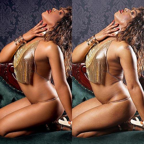 Erotische Fotos bearbeitet und unbearbeitet