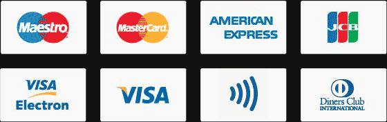 Zahlungsmethoden in Bar, Girokarte oder Kreditkarte
