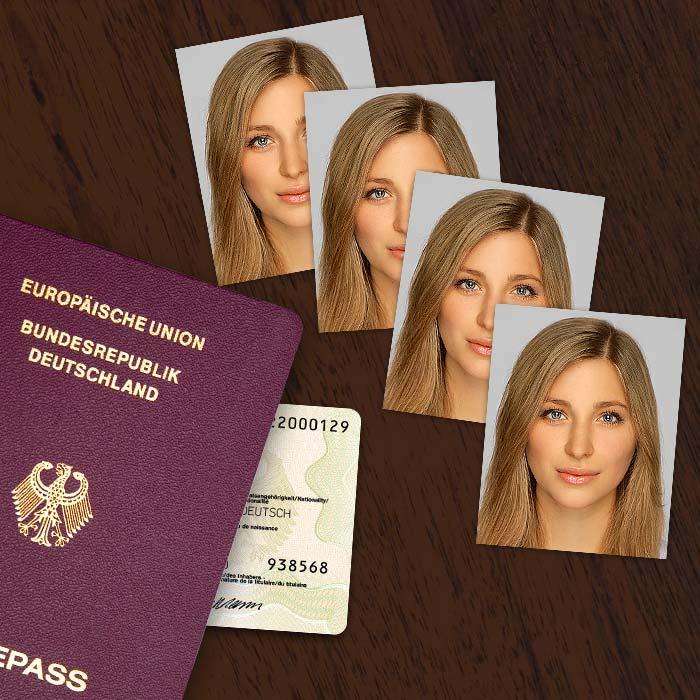 biometrische Passbilder für Kinder und Erwachsene
