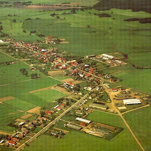 das Dorf Barenthin aus der Luft